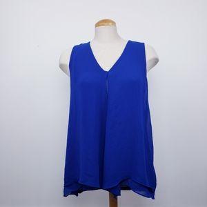 BOBEAU   Blue Layered Medium Sleeveless Top